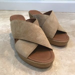 A. Giannetti NWOB Suede Wedge Sandals - Size 8.5